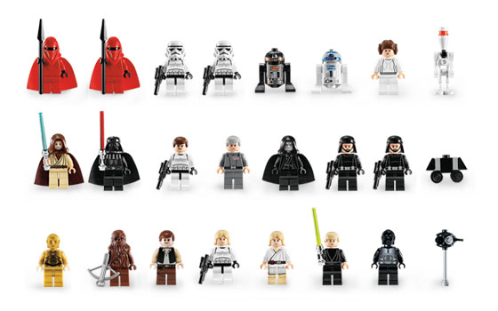 Minifigures from Original Death Star Set