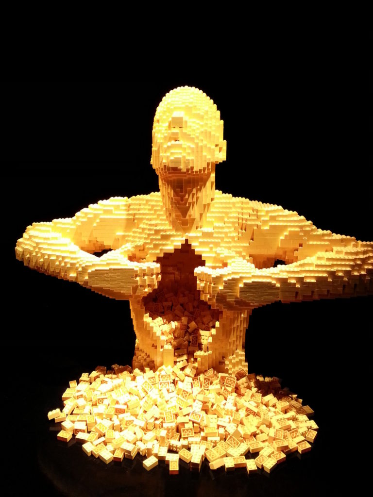 lego art yellow by nathan sawaya