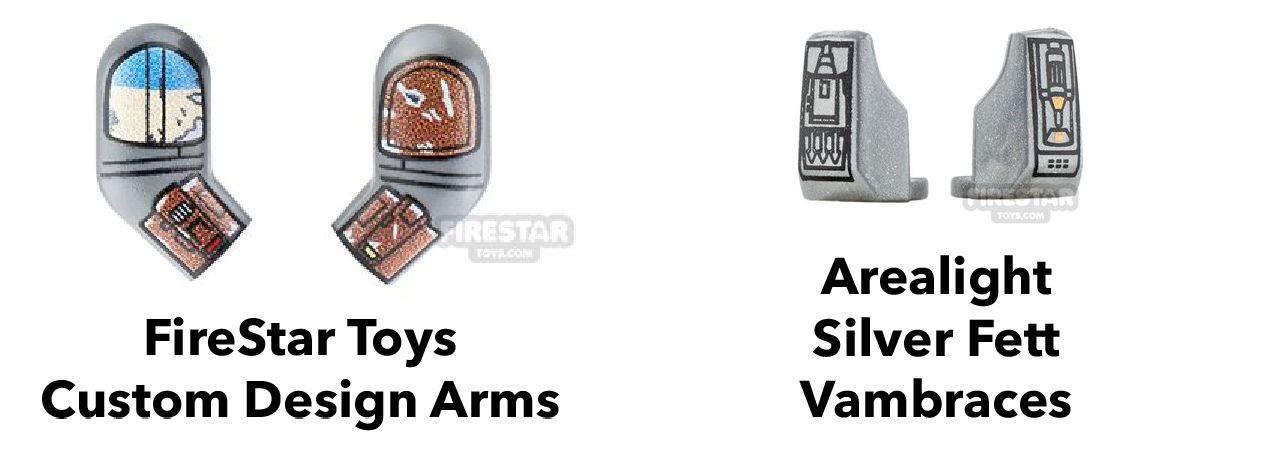 lego mandalorian custom arms