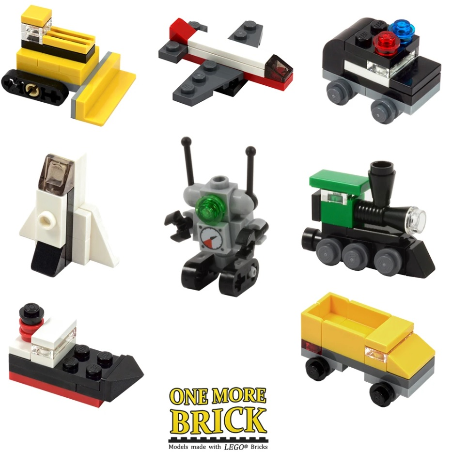lego crackers mini vehicles