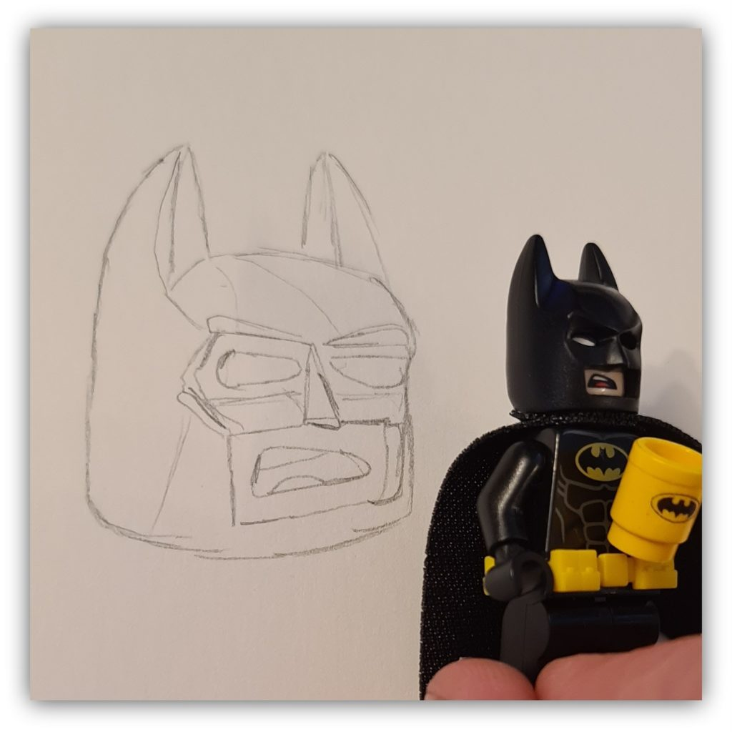 draw lego batman: the head