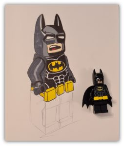 draw lego batman: the legs