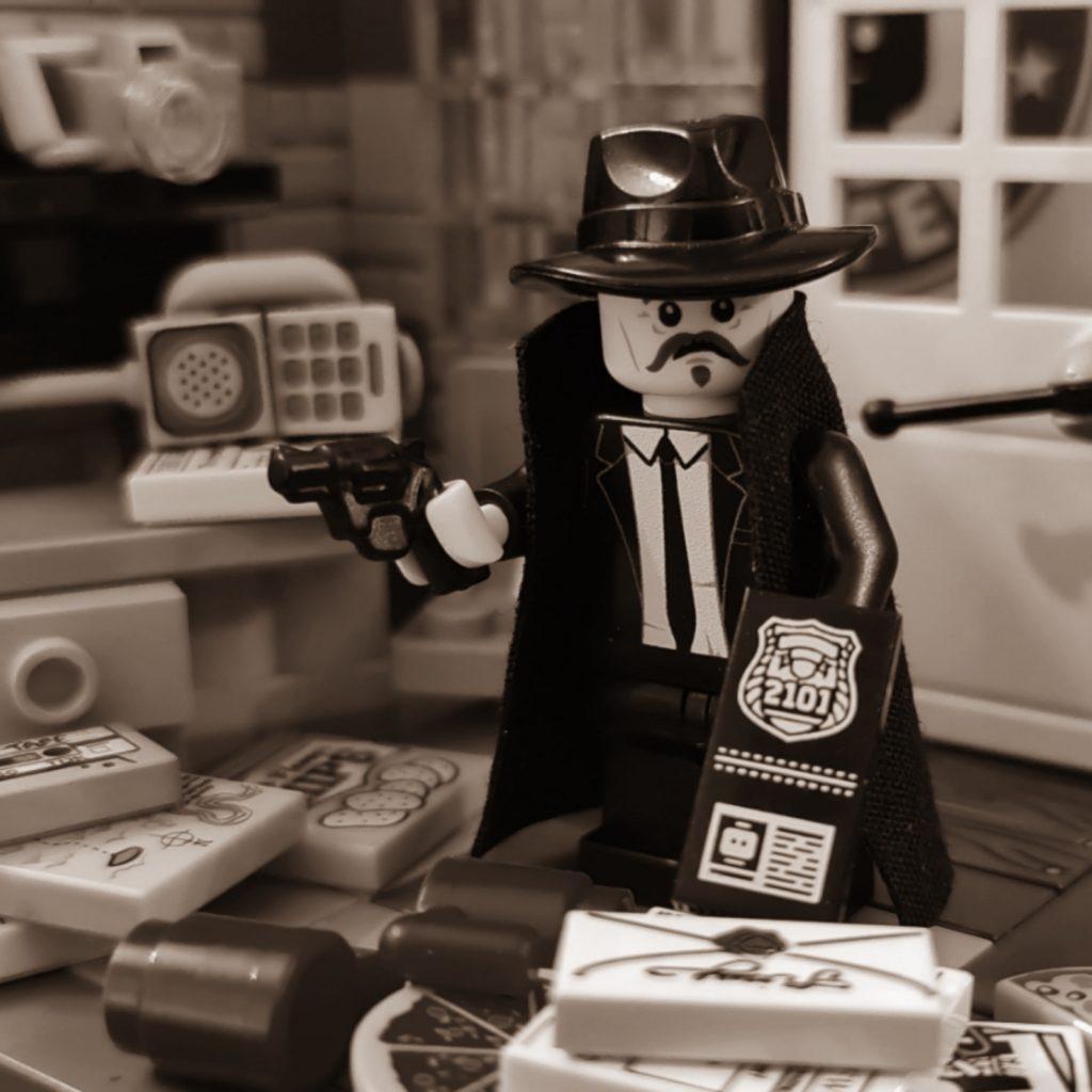 film noir detective office