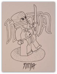 draw lego ninjago inks