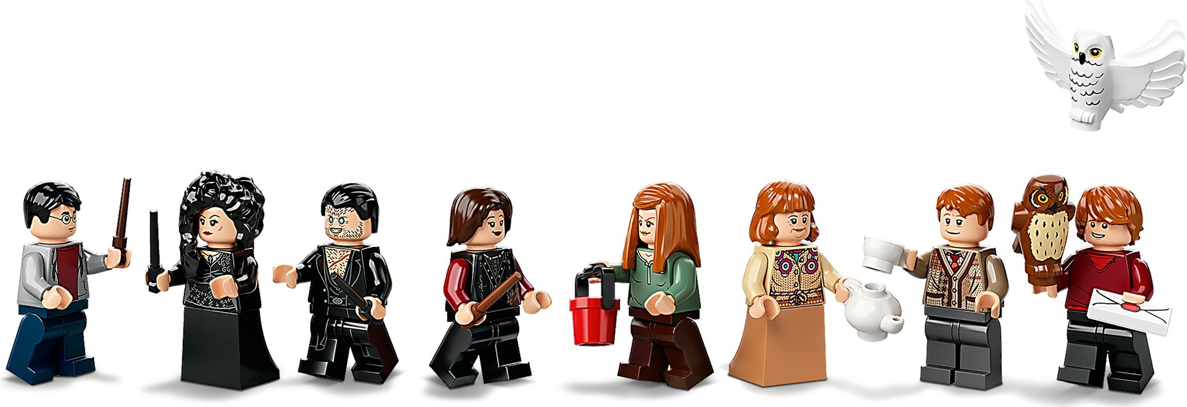 lego harry potter the burrow minifigures