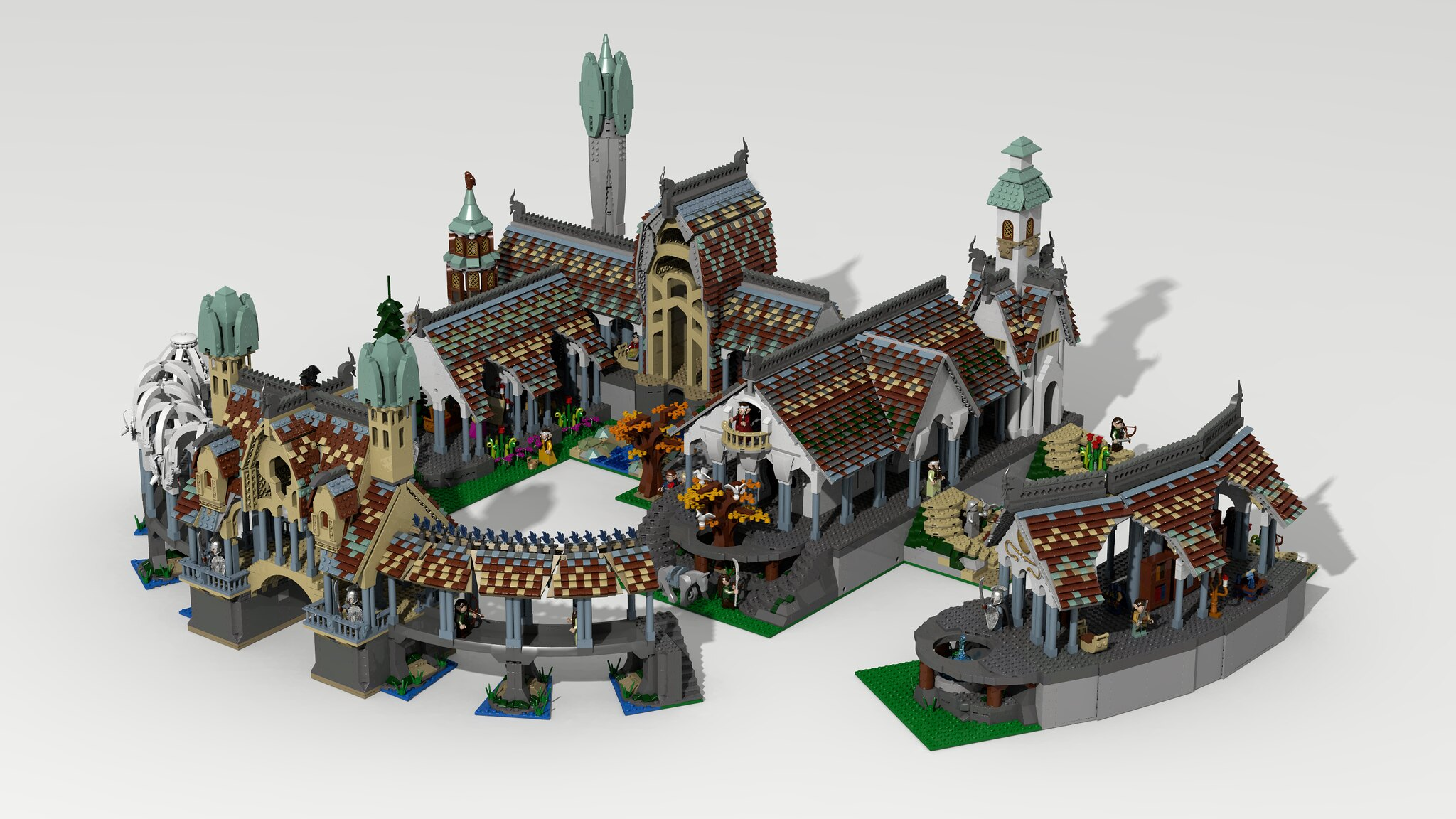 lego lord of the rings rivendell ldd