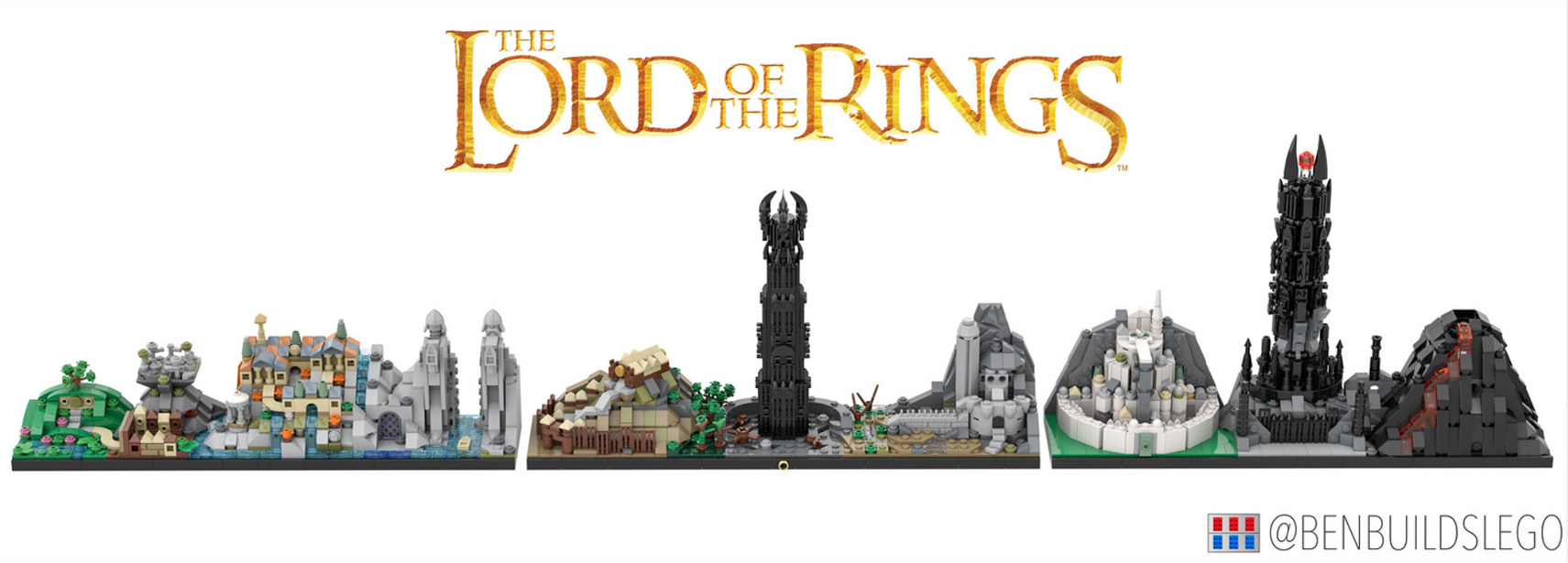 lego lord of the rings skyline