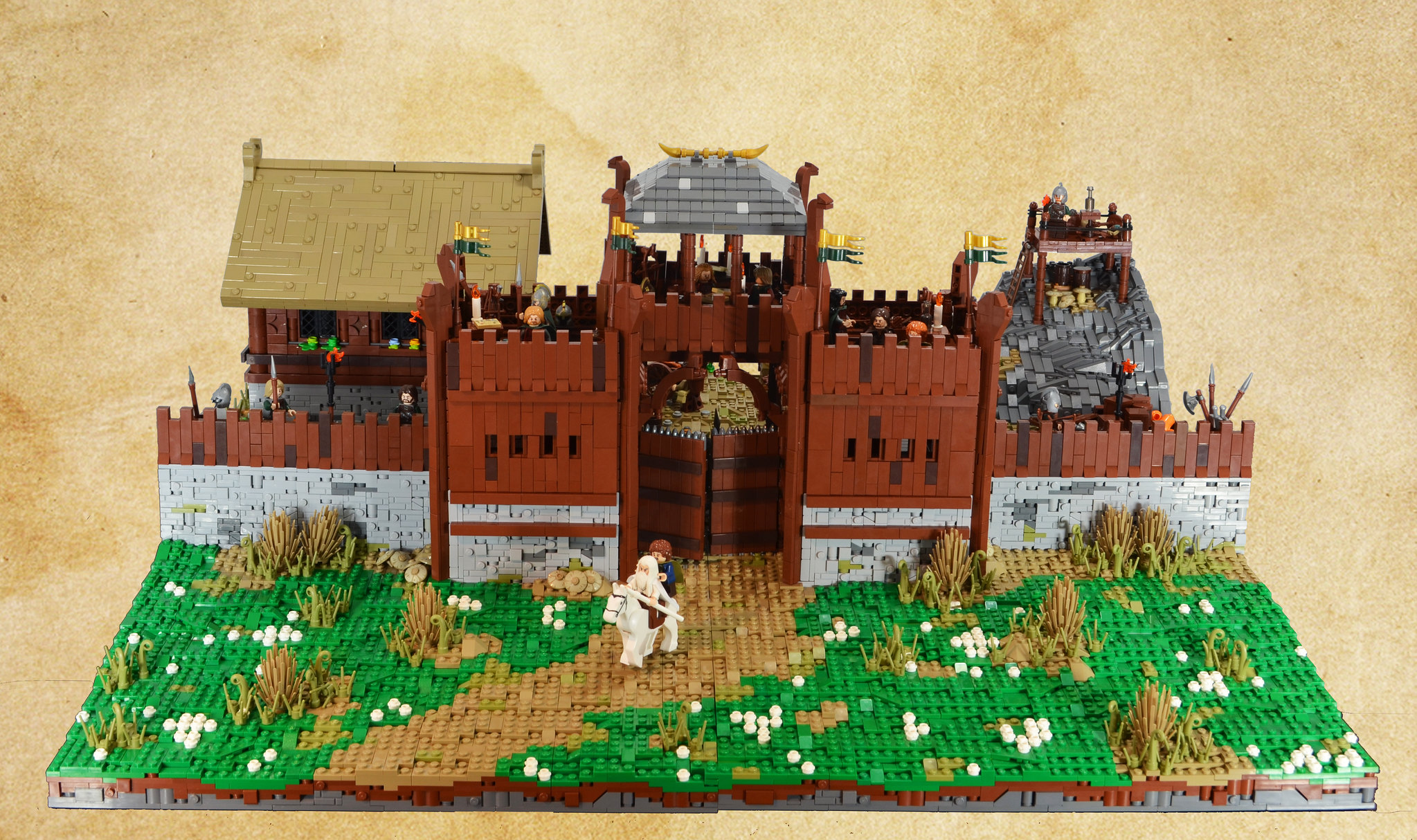 lego lord of the rings edoras