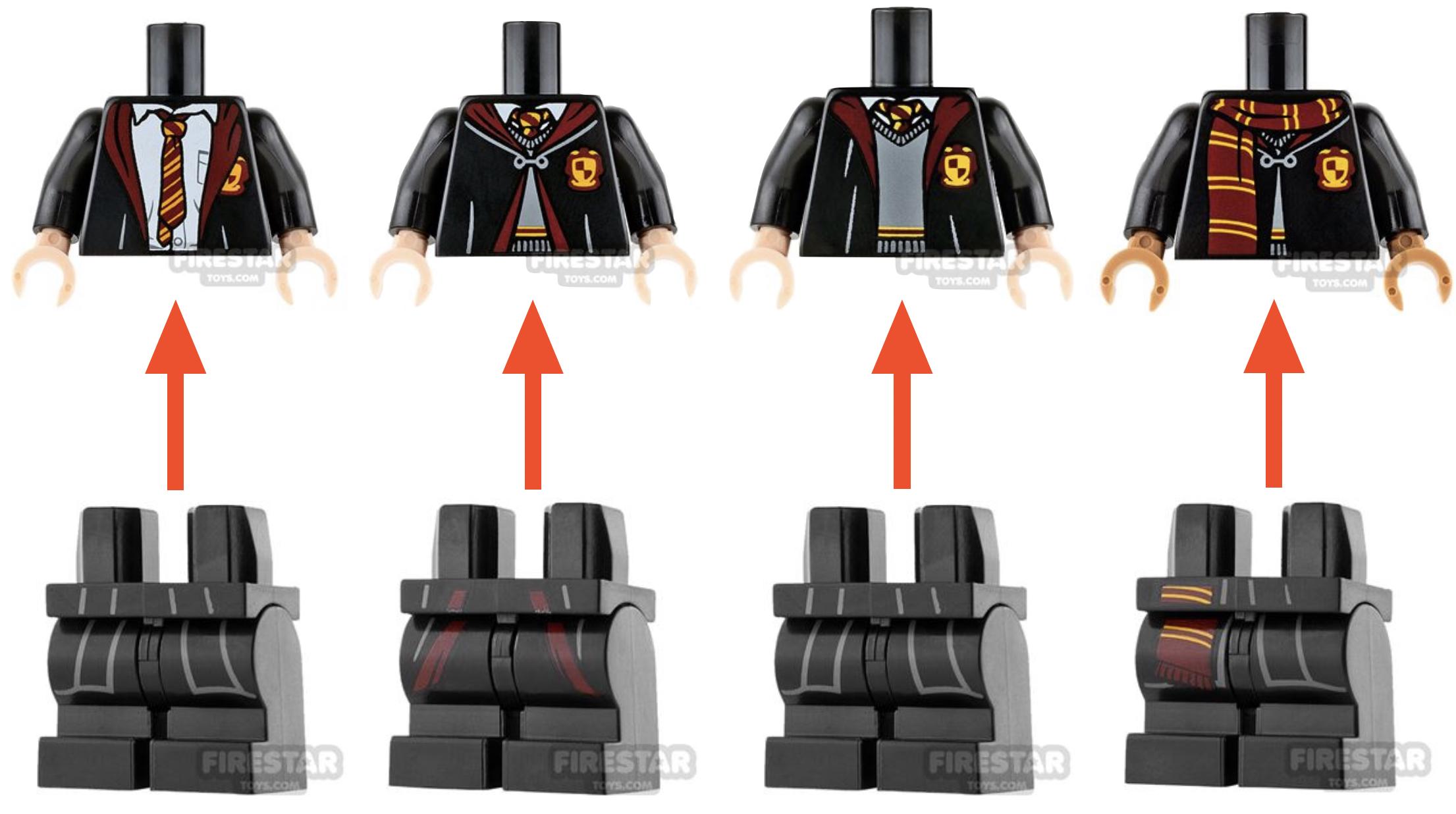 gryffindor minifigures uniforms