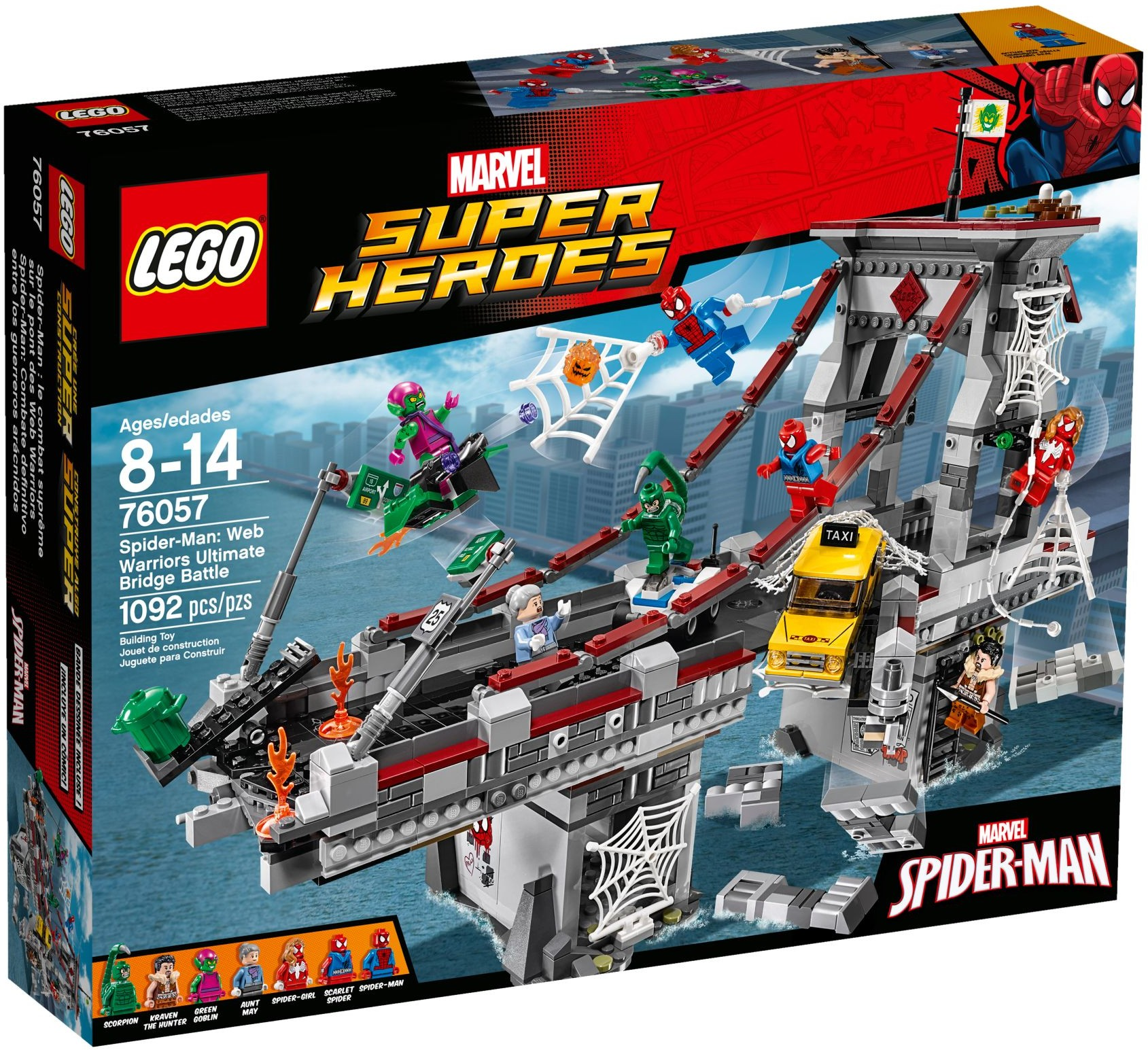 2016 lego marvel web warriors ultimate bridge battle