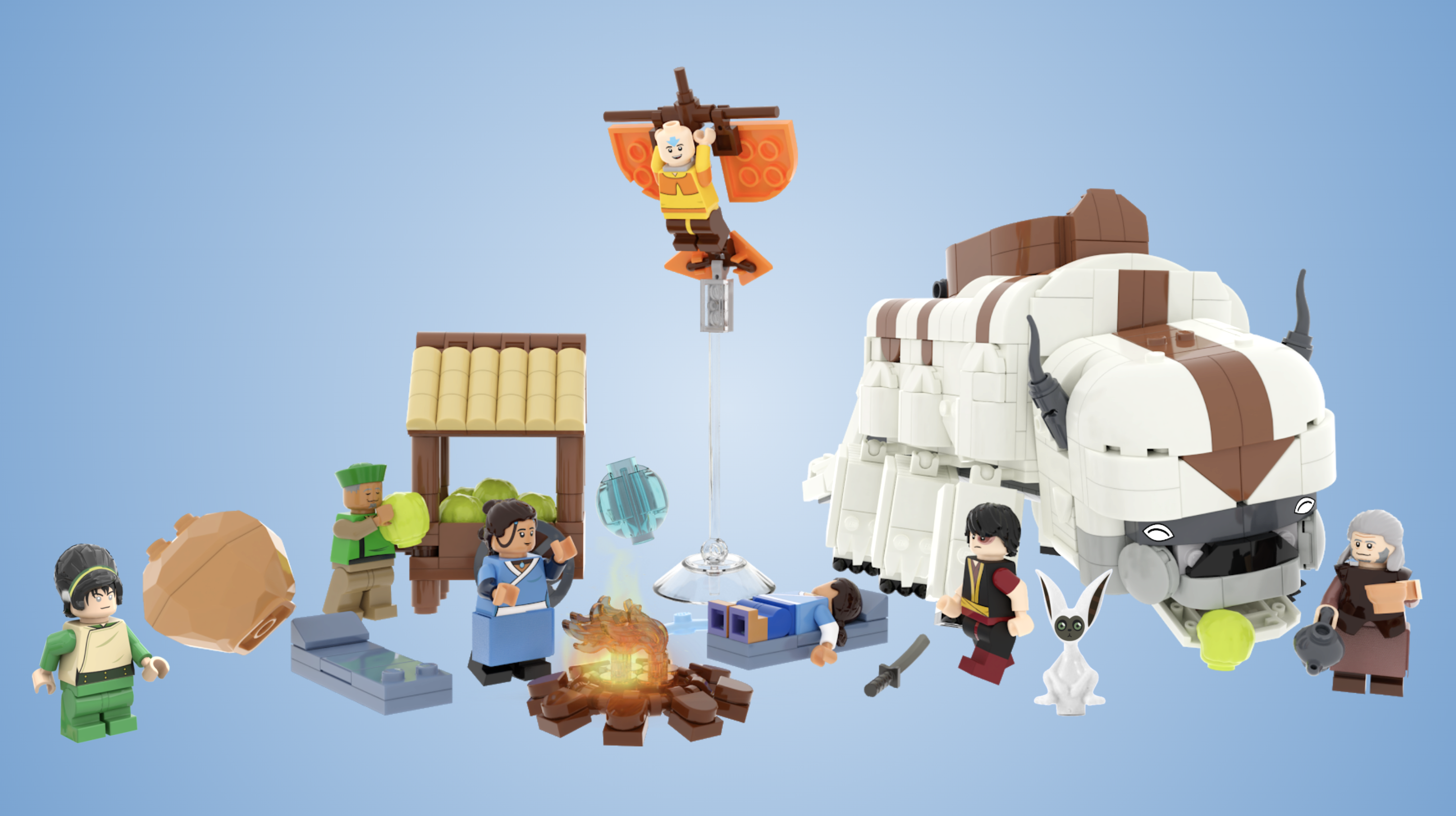 lego avatar the last airbender team avatar