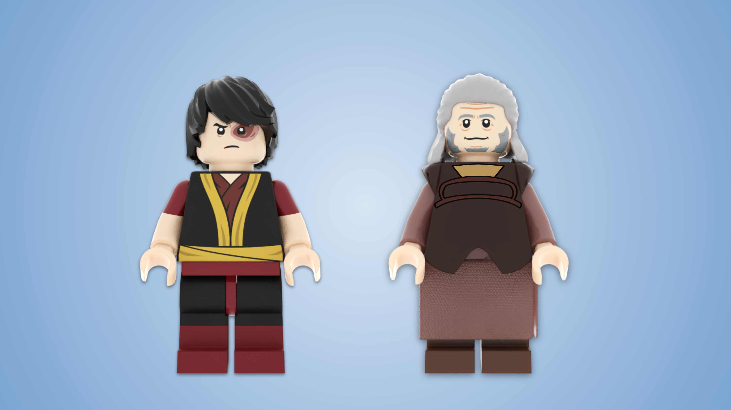 lego avatar the last airbender zuko and iroh