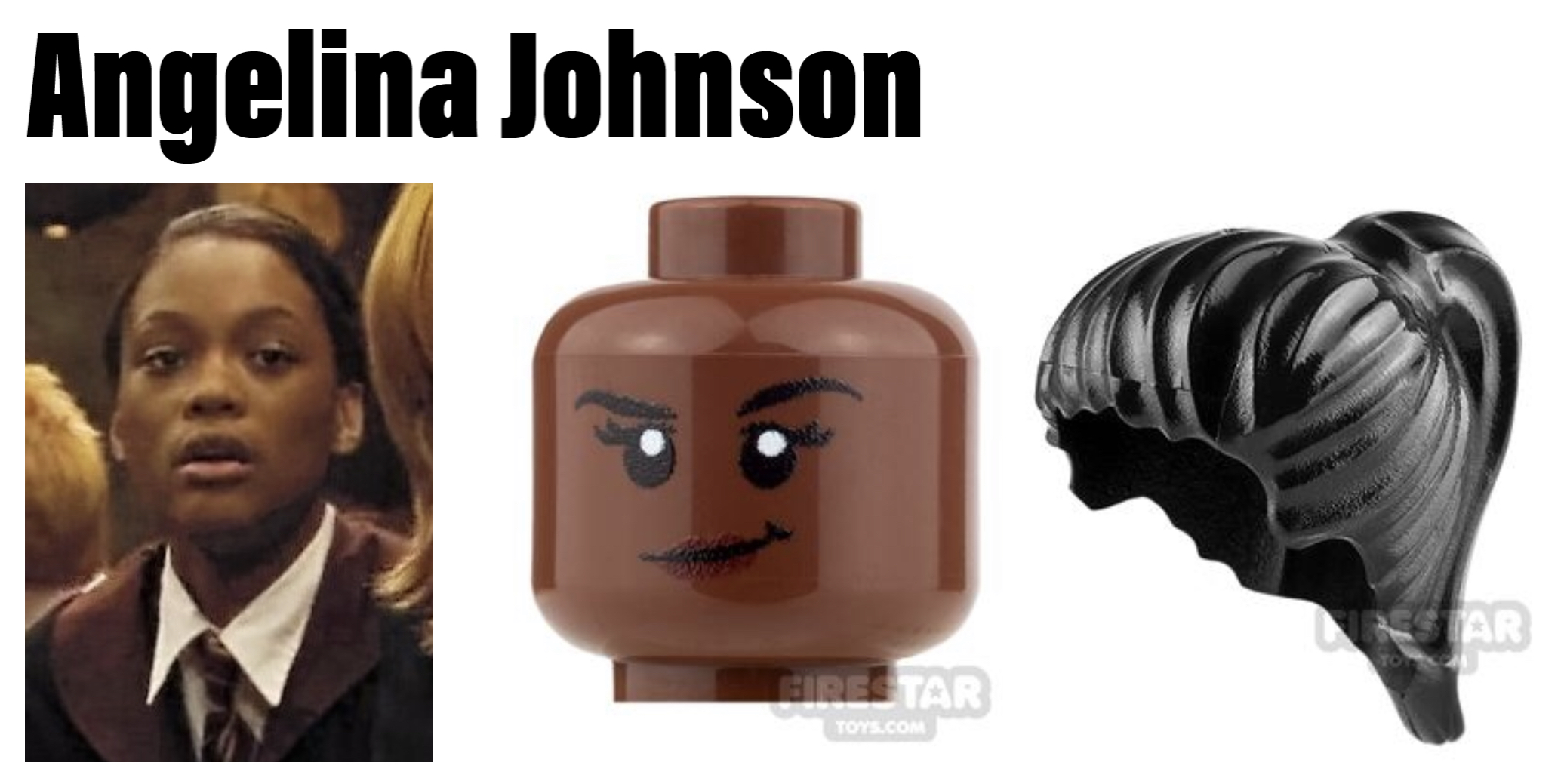 hogwarts minifigures angelina johnson