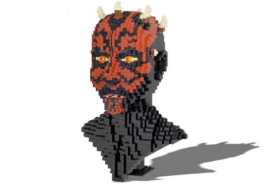 lego star wars busts darth maul