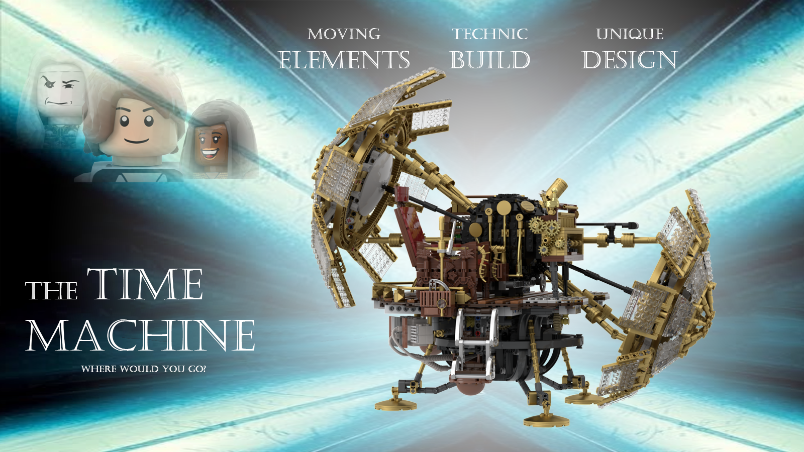 lego time machine poster