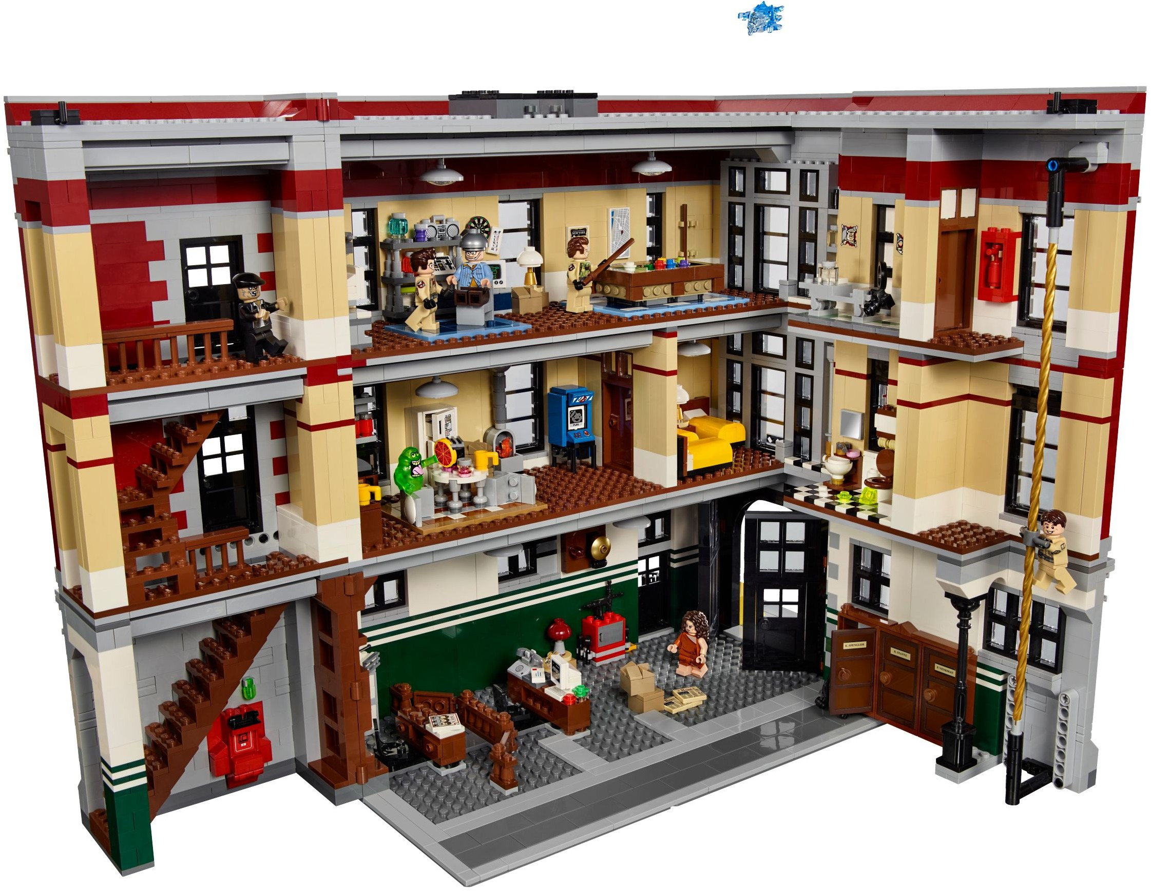 biggest lego sets ghostbusters firehouse hq