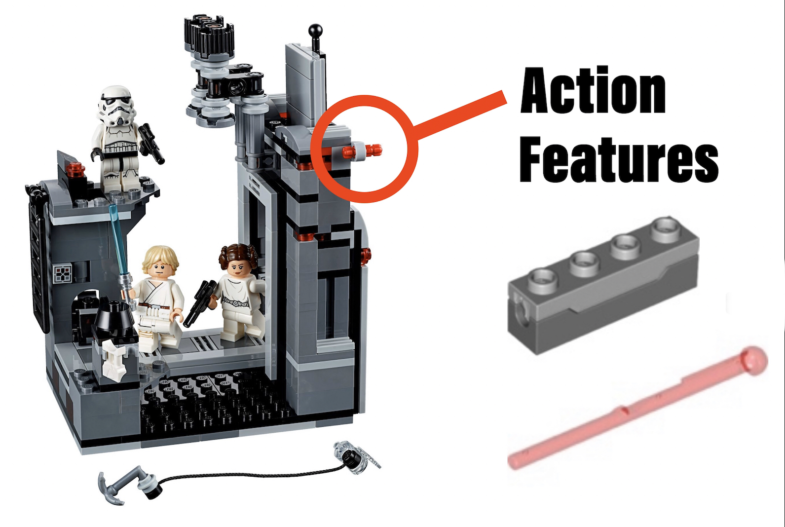 lego collectors action features