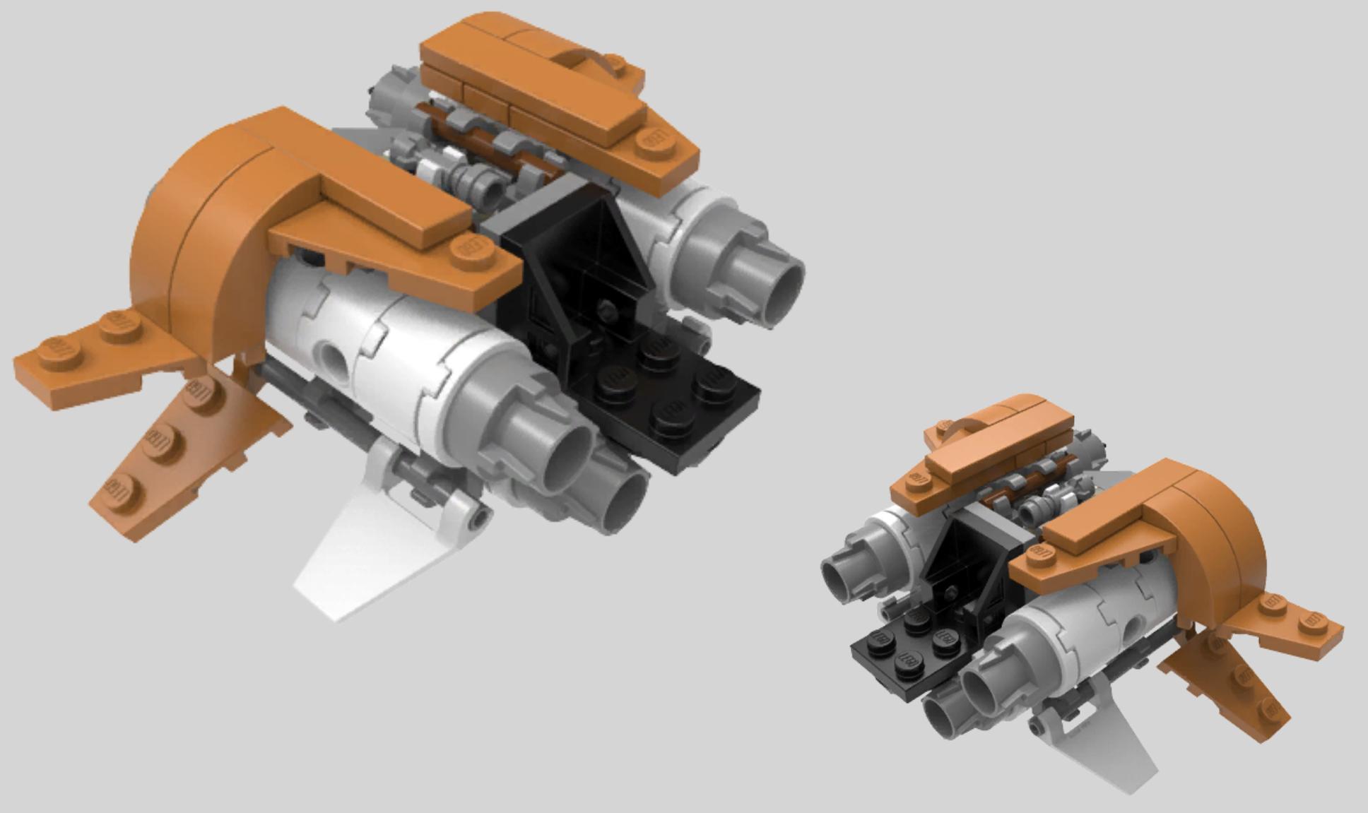 star wars microfighters quadjumper