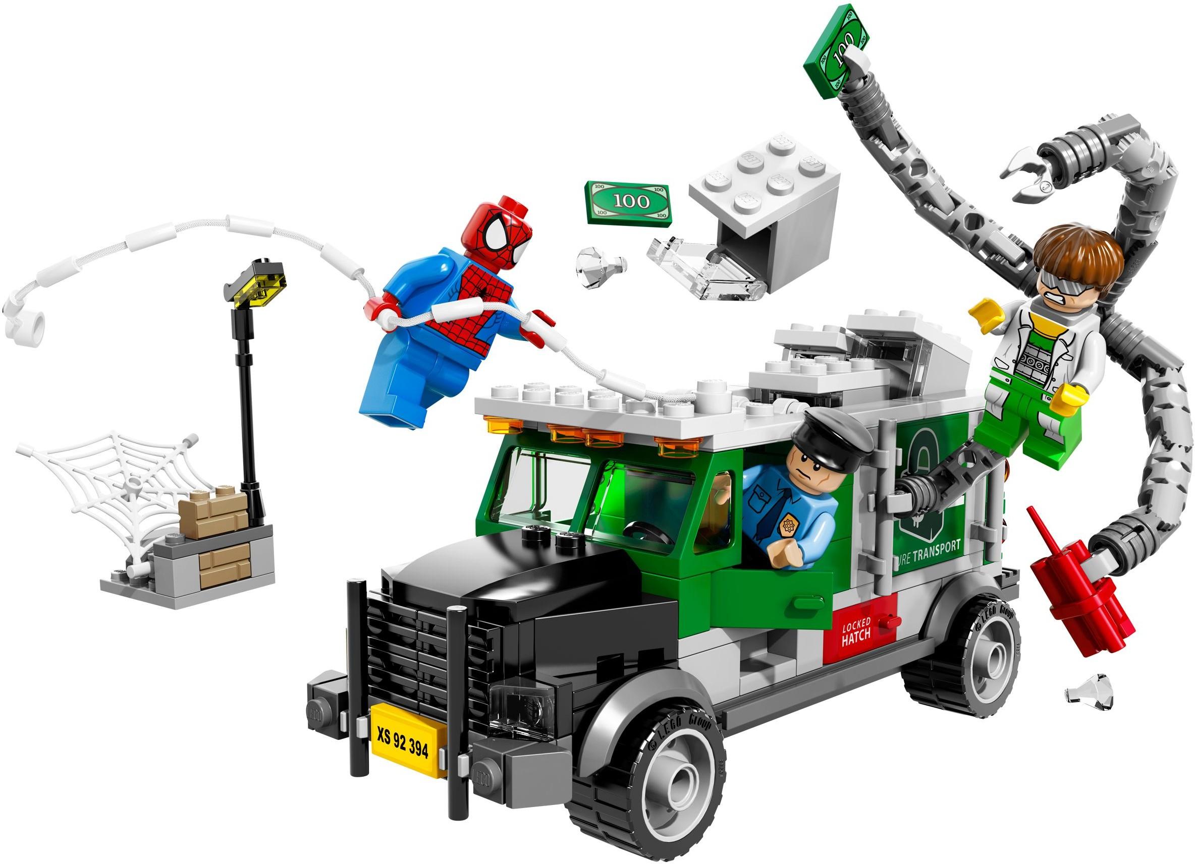 2014 lego marvel doc ock truck heist