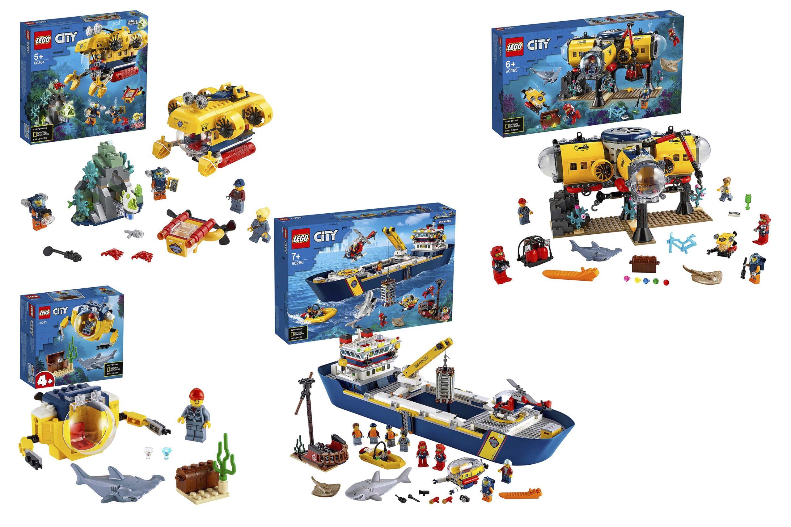 LEGO City Ocean Exploration - Header Image of all sets