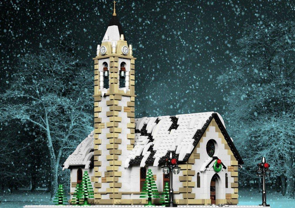 LEGO Christmas MOCs - Winter Village Church
