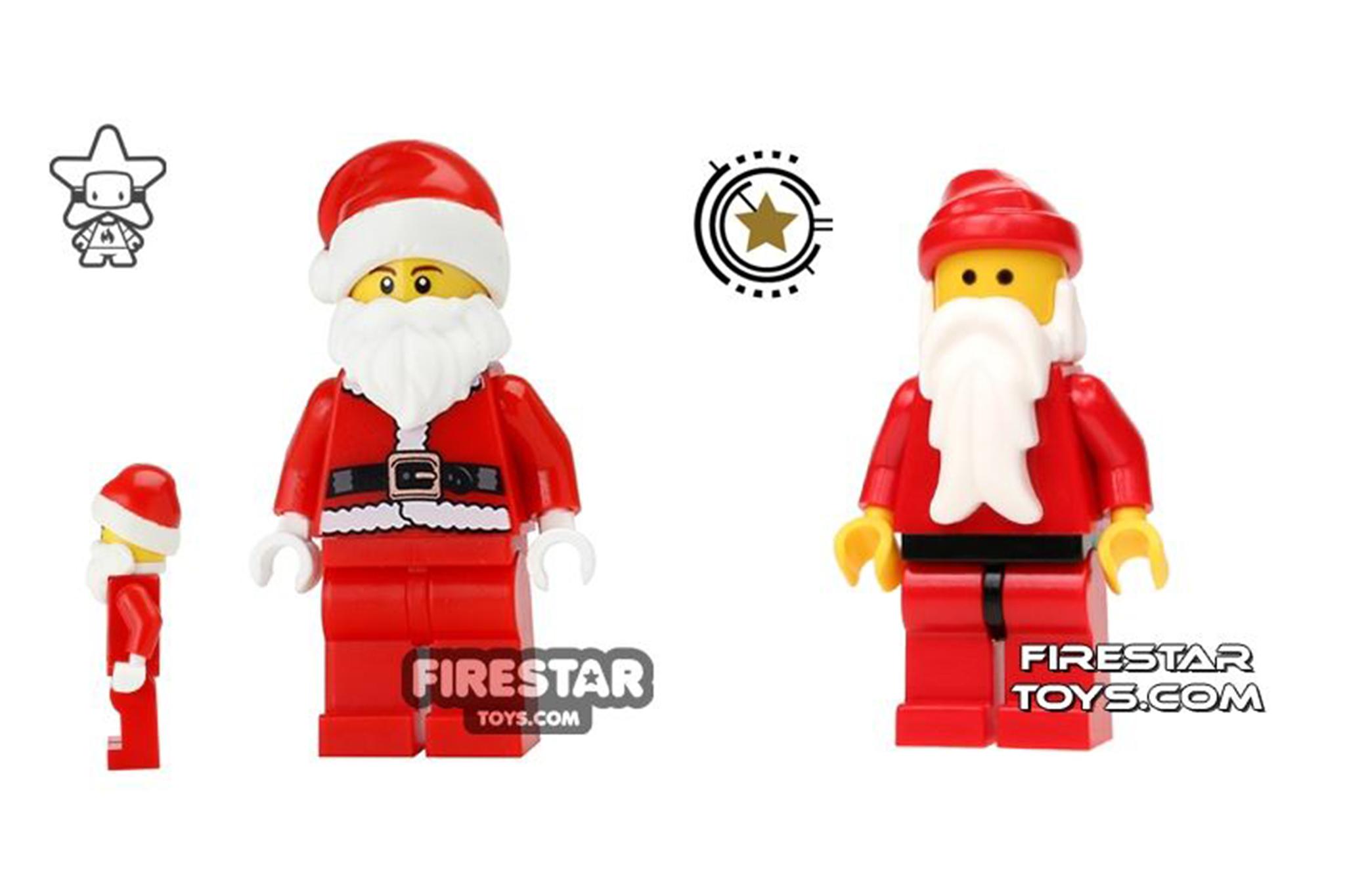 LEGO Christmas Minifigures - Old LEGO Santa and new LEGO Santa