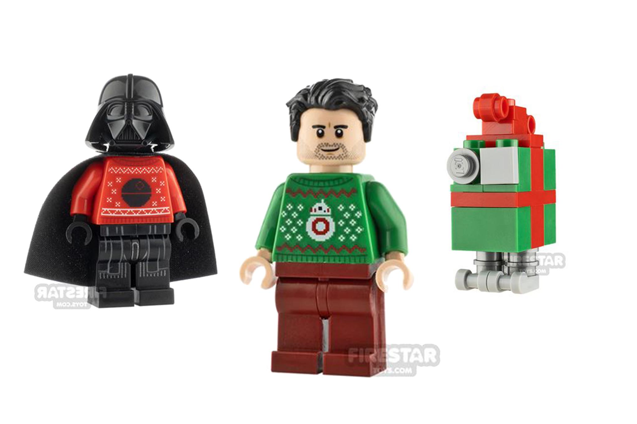 LEGO Christmas Minifigures - Christmas Sweater Vader, Poe Dameron and festive Gonk Droid