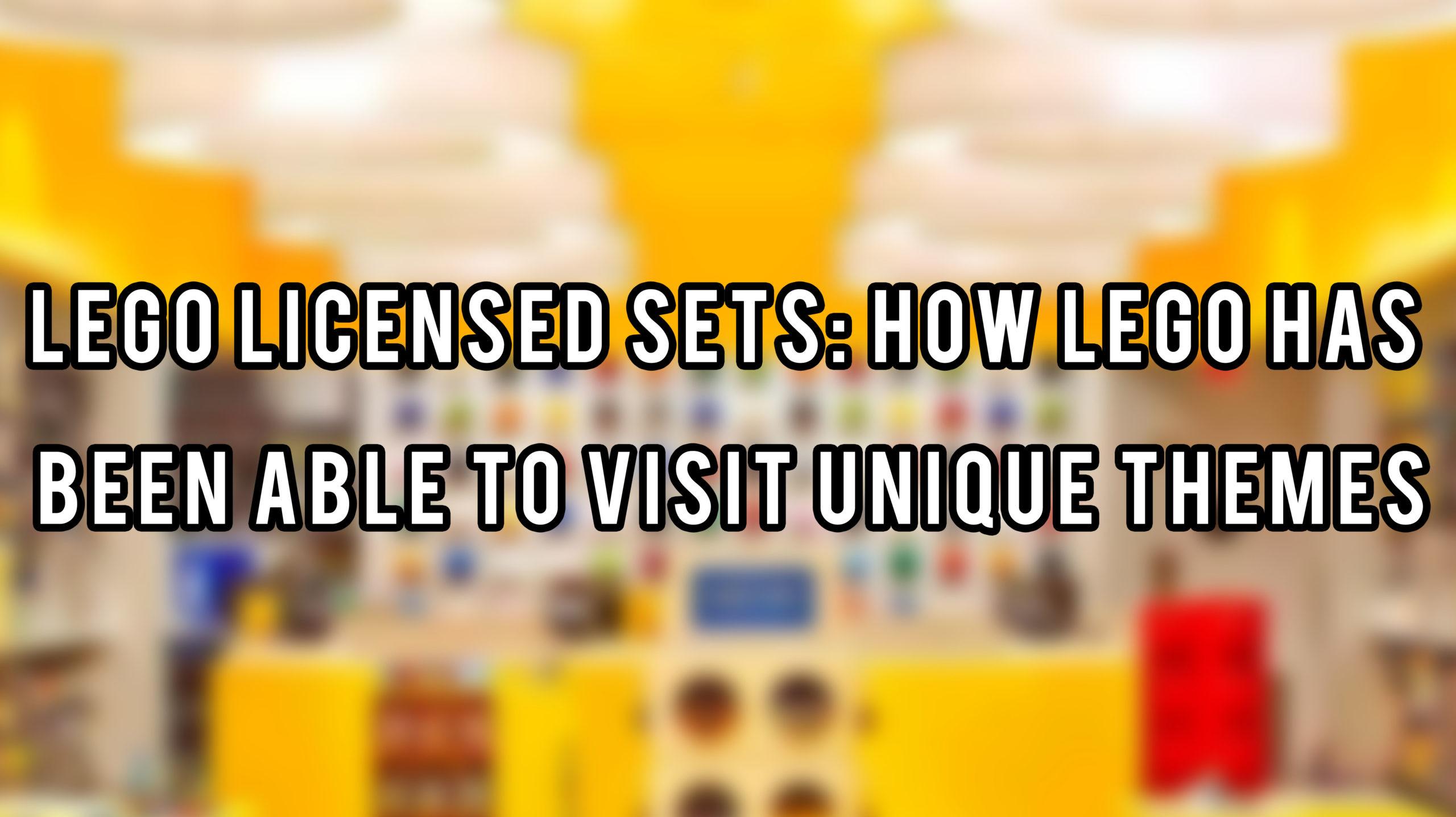 LEGO Licensed Sets - Header Image