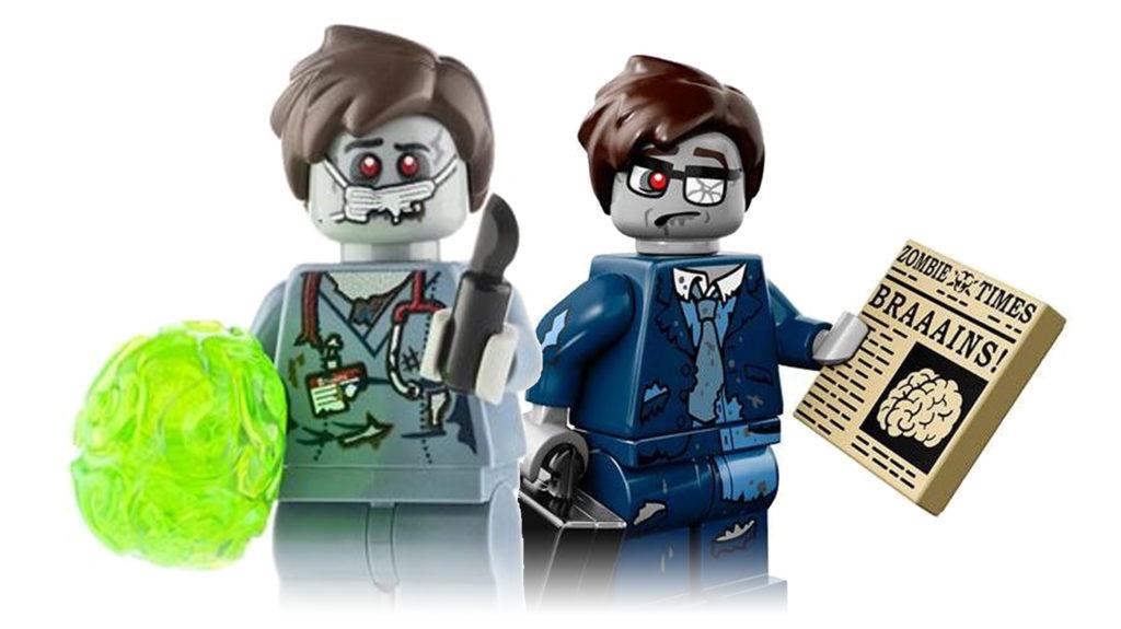 Halloween LEGO Zombie Minifigures